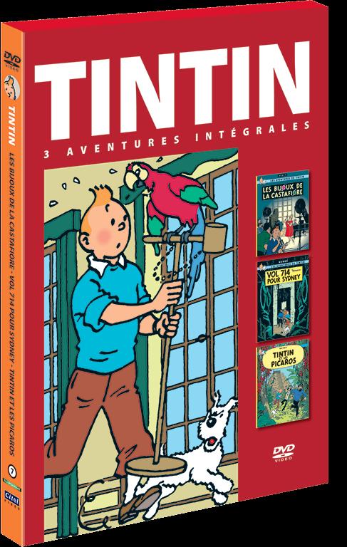 Les aventures de Tintin : 3 aventures - vol.7 combo