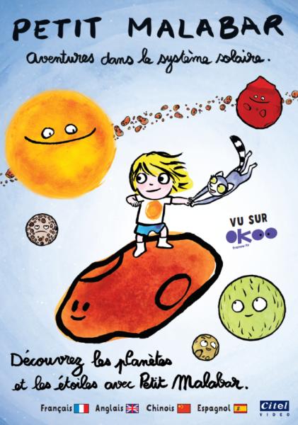 Petit Malabar-Aventures dans le système solaire - coffret DVD 2021